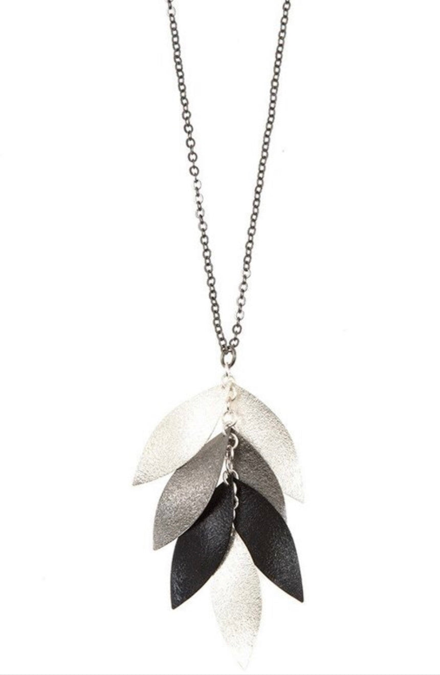 Greytone Leaf Necklace