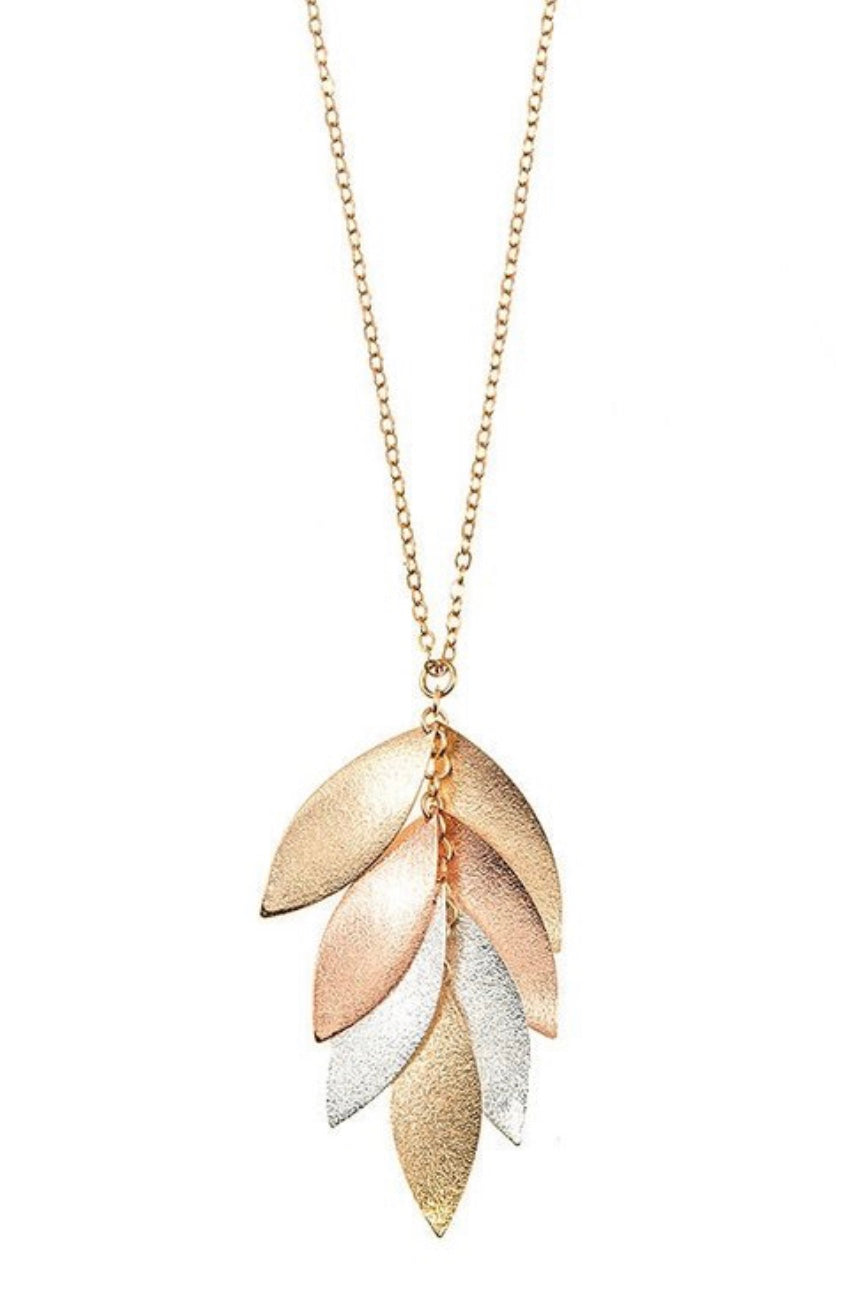 Goldtone Leaf Necklace