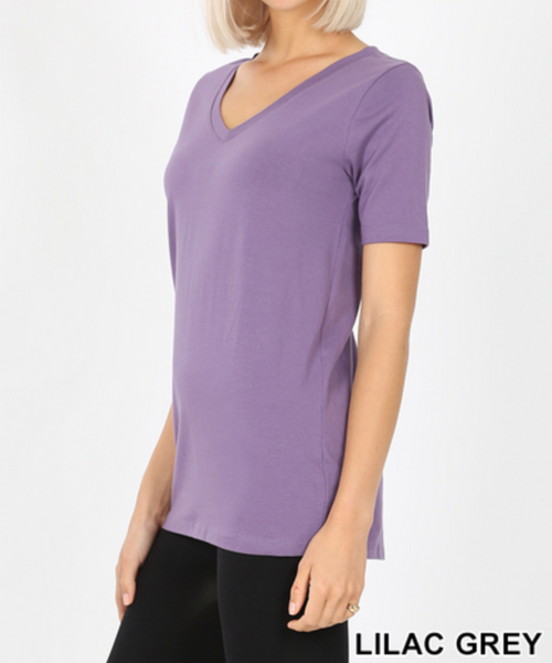 Cotton V-Neck Short Sleeve T-Shirt