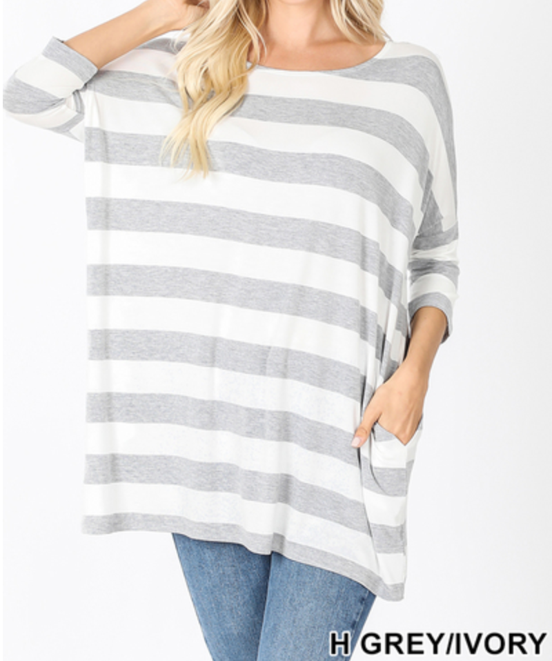 Drop Shoulder Boxy Top-Plus