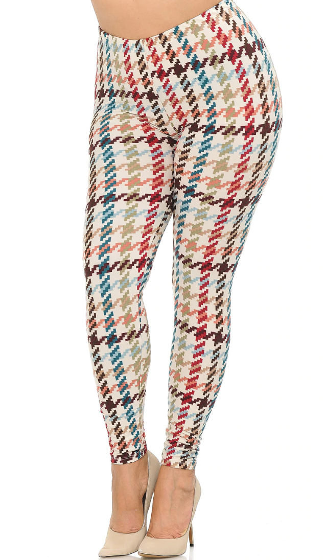 Earth Tone Pixel Zags Leggings