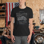 Vintage Style American Motorcycle T-Shirt with Tear Away Label