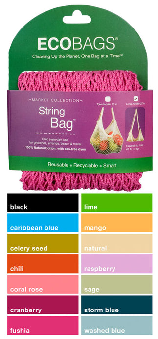 EcoBags Market Collection String Bag - Long Handle