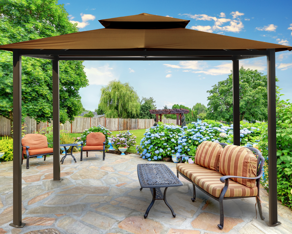 Barcelona 10'x12' Gazebo with Soft Top - 5 colors