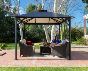 Durham 10'x12' Aluminum Hard-Top Gazebo - GZ3582
