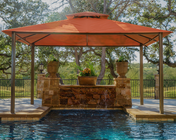 Kingsbury 11'x14' Gazebo with Sunbrella Top