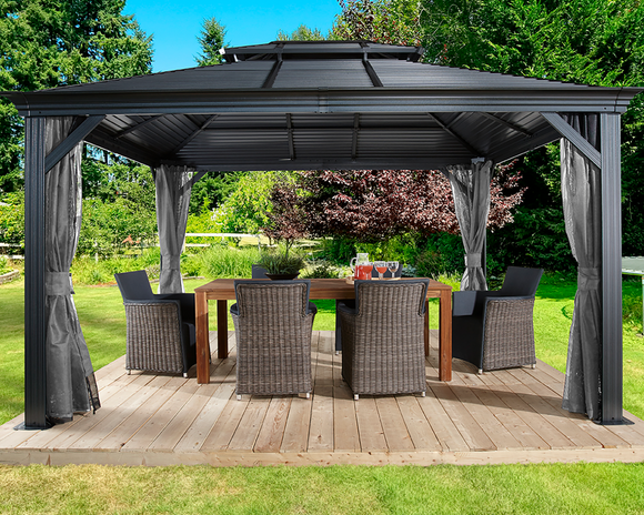 Mykonos II Double Roof Gazebo 10 x 14 ft