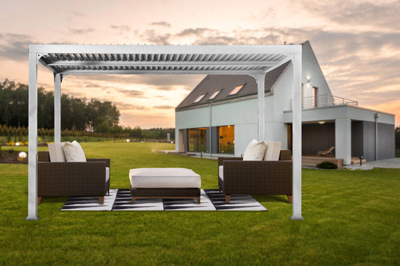 Novara Louvered 10x12 Pergola, 2 colors