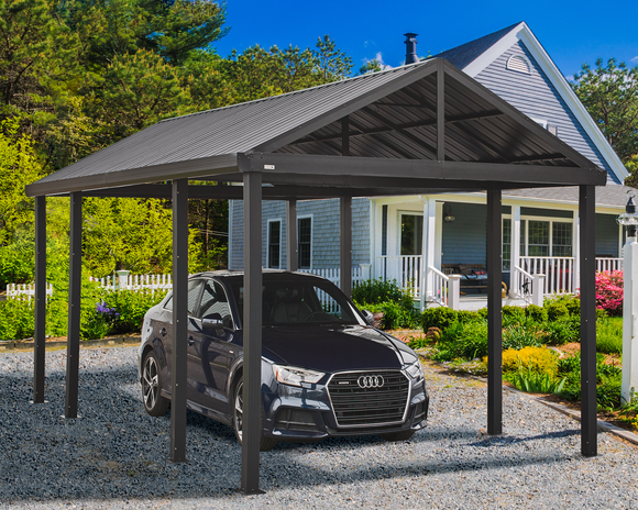 Samara 12 x 20 Dark Grey Carport