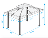 Kingsbury 11'x14' Gazebo with Soft Top