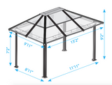 Madrid 10x13 Hard Top Gazebo with Mosquito Netting - GZ620LSK