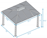 Santa Monica 11x13 Hard Top Gazebo - GZ3