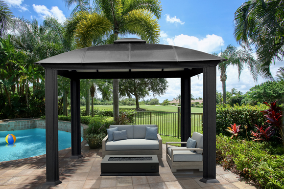 Siena 12x12 Hard Top Gazebo with Sliding Screen - GZ3DS