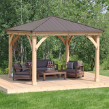 Meridian 12x12 Gazebo with Aluminum Roof - YM11769
