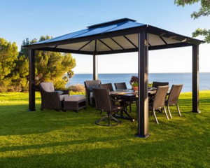 Santa Monica 11x16 Hard Top Gazebo - GZ3XL
