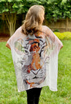 Tiger Flower Cocoon Wrap