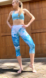 Washed in Waves Capri Leggings