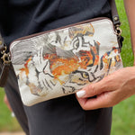 Tiger Flower Statement Clutch