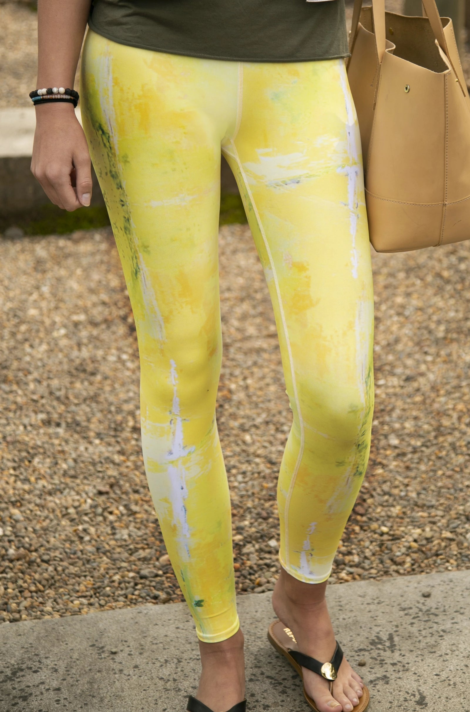 Lemon-Lime Full Length Leggings