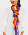 Purple & Orange Stripes Scarf