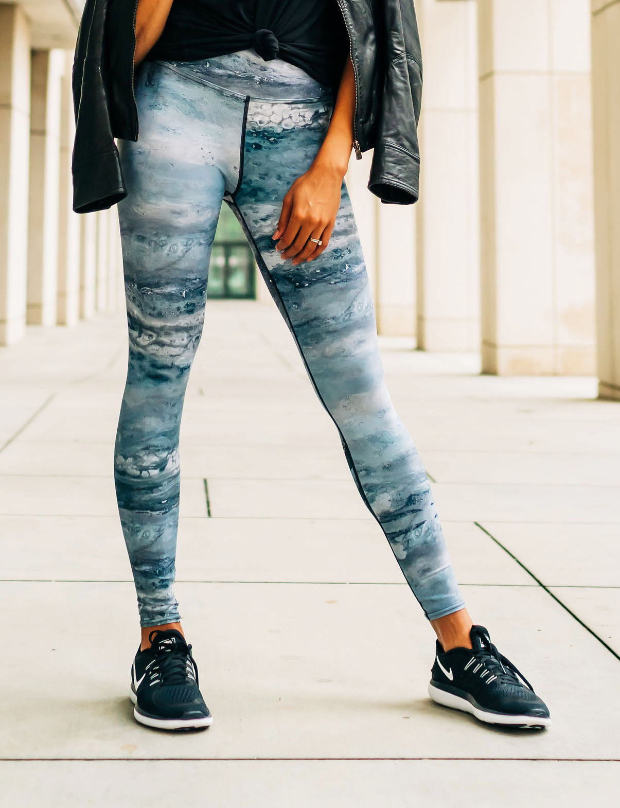Cool Grays Full Length Leggings
