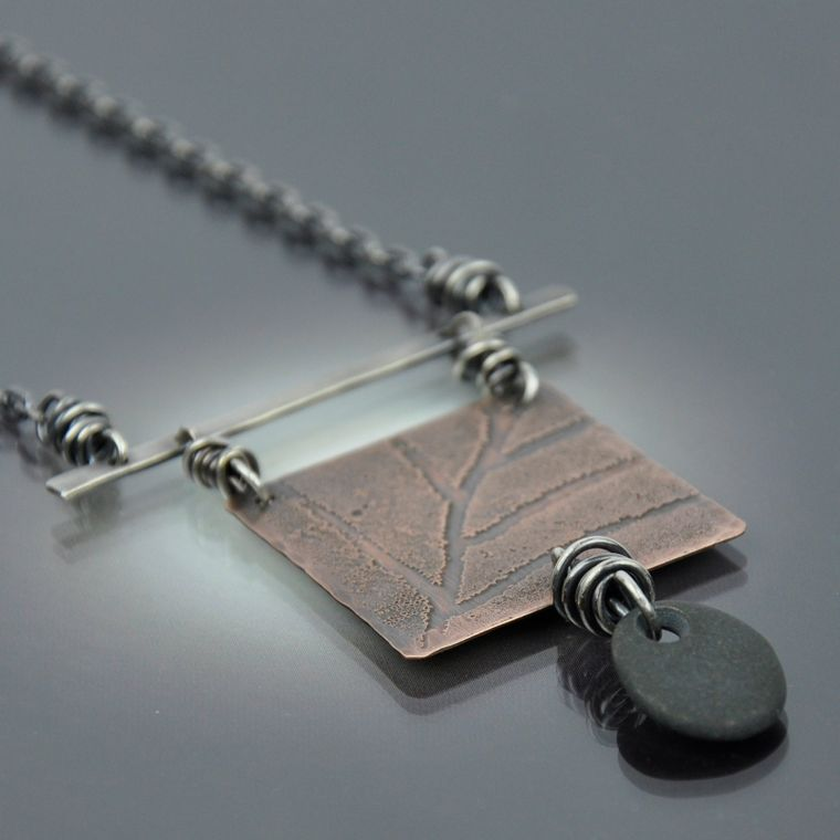 Leaf & Stone Necklace