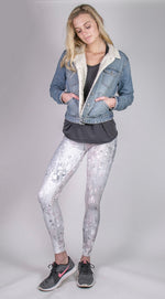 Soft Pink Rain Full Length Leggings
