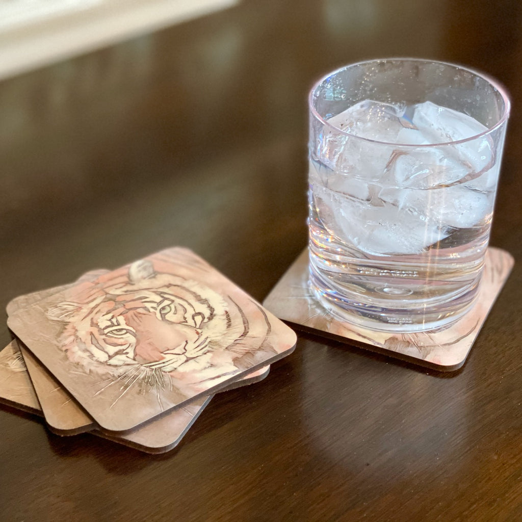"""Champion"" Tiger Coasters (set of 4)"