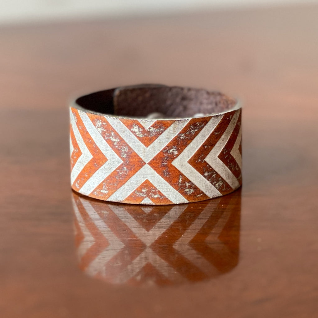 Reflections Leather Cuff