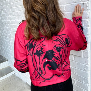Modern Bulldog Cropped Shirt