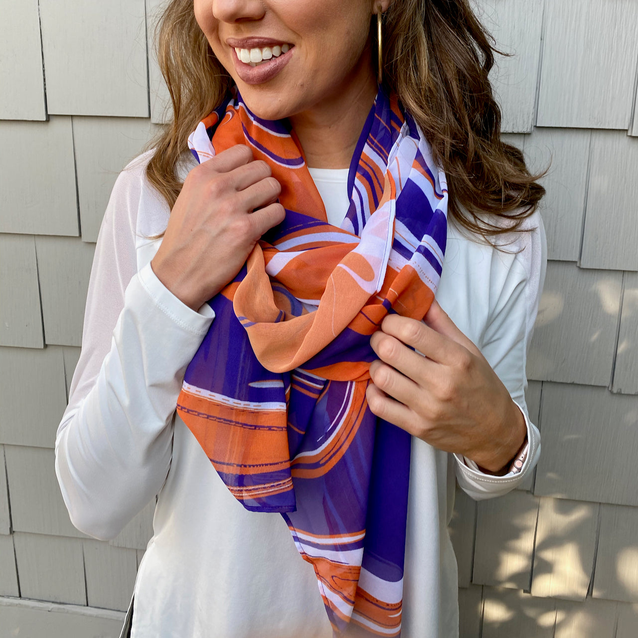 Game-Day Swirls Scarf (8+ Team Colors)