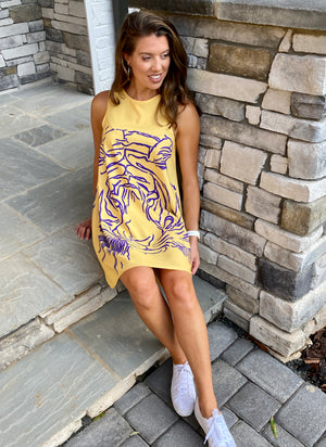 Game-Day Purple & Gold Tiger Dress