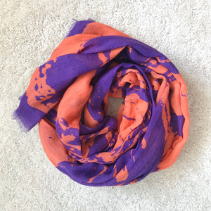 Purple & Orange Stripes Scarf/Sarong