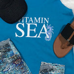 """Vitamin Sea"" Turquoise Racer-Back Tank"