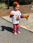 Kid's 2T-7 Purple & Orange Leggings (3 prints)