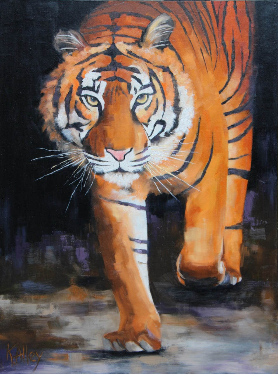 """Champion"" Tiger Print by Karen (3 sizes)"