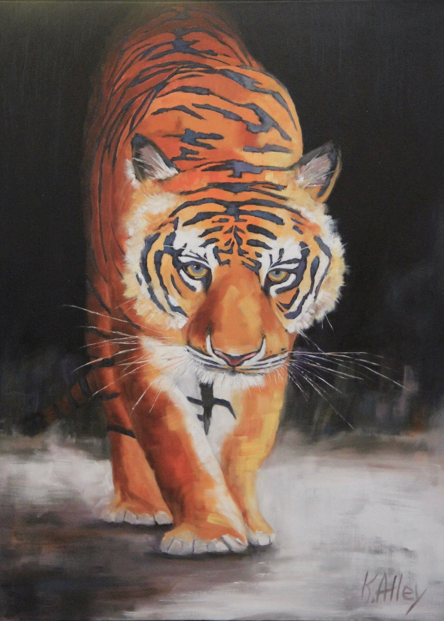 """All In"" Tiger Print by Karen (3 Sizes)"