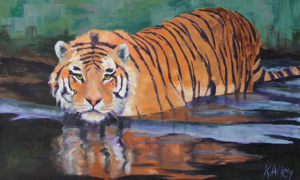 """On The Prowl"" Tiger Print by Karen (3 sizes)"