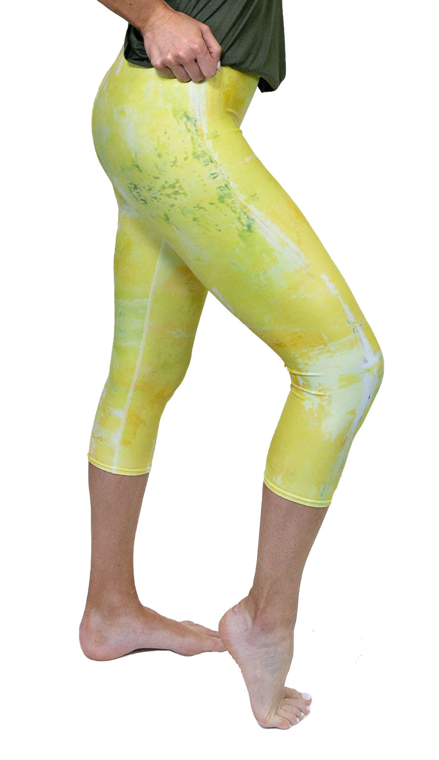 Lemon-Lime Capri Leggings