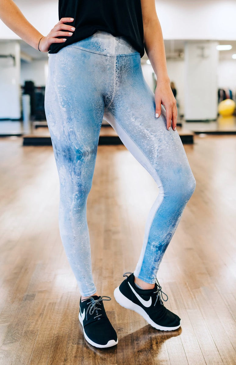 Denim Drops Full Length Leggings