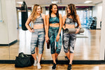 Cool Grays Capri Leggings