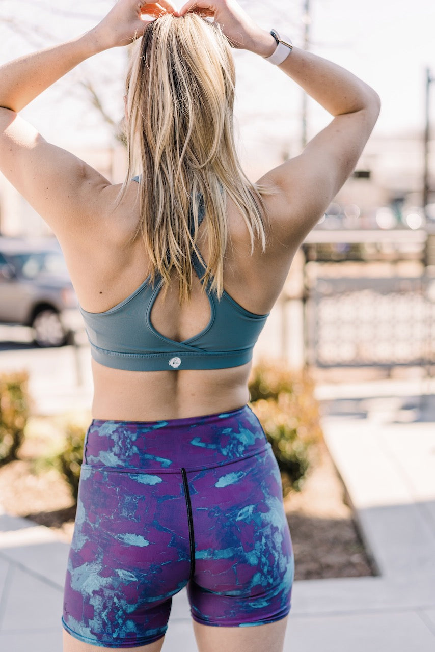 Wine Time Yoga Shorts