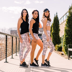 Black Tiger Capri Leggings