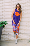Purple & Orange Partytime Legging