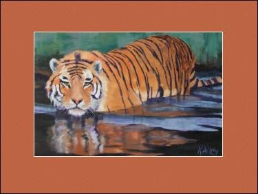 """On The Prowl"" Tiger Print by Karen"