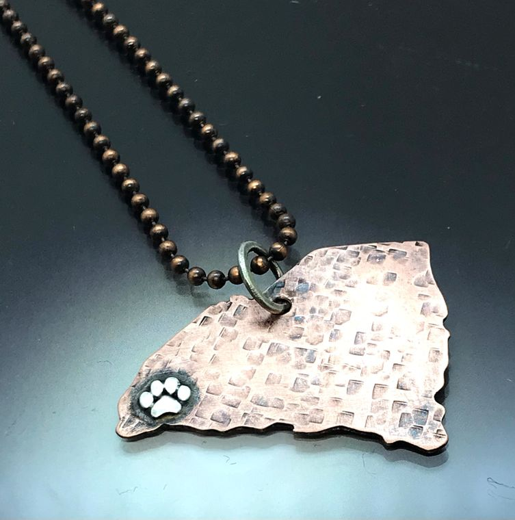 South Carolina Paw Necklace