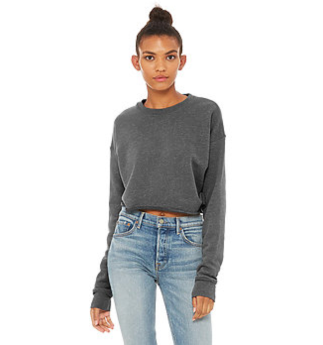 Cropped Crew Neck Fleece