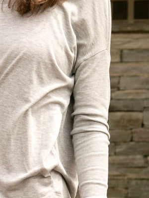 Fitted Sleeve Long Sleeved Tee