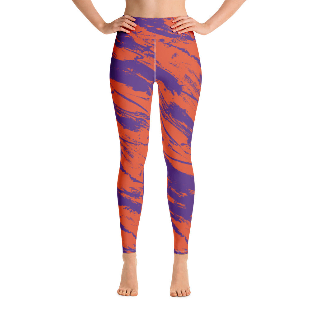 Purple & Orange Stripes Full Length