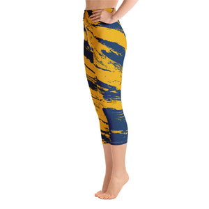 Navy & Yellow Combo #2 Stripes Capri